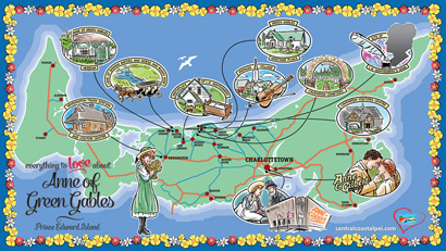 Anne Attractions map